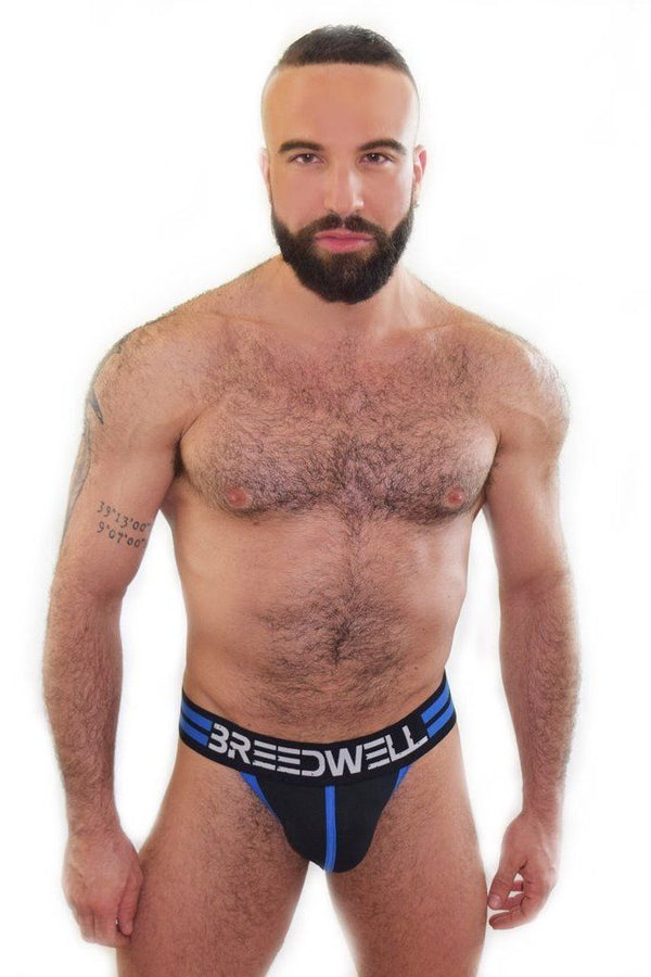Ropa Interior - Breedwell - Suspensorio Stripes Azul