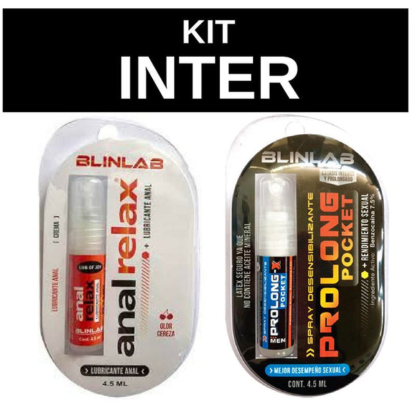 Sexualidad Masculina - Blinlab - 2Pack Anal Relax Lubricante Anal + Spray Desensibilizante