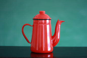Kalita Pelican Enamel Kettle - Red