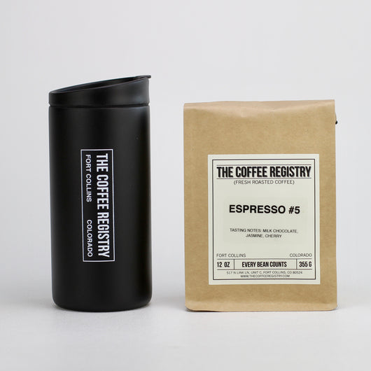 Miir 12 oz Travel Number and Bag of Coffee