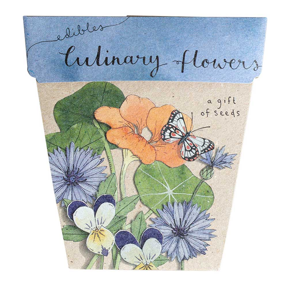 Gift of Seeds Card - Culinary Flowers