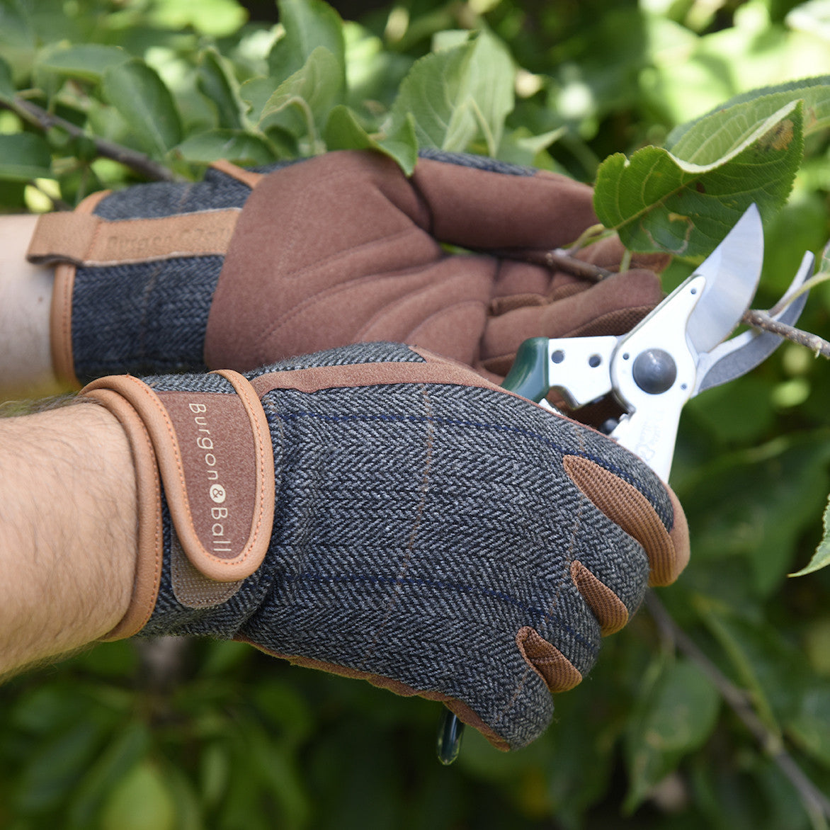 Men's Gardening Gloves - Tweed - The Potting Shed Garden Tools