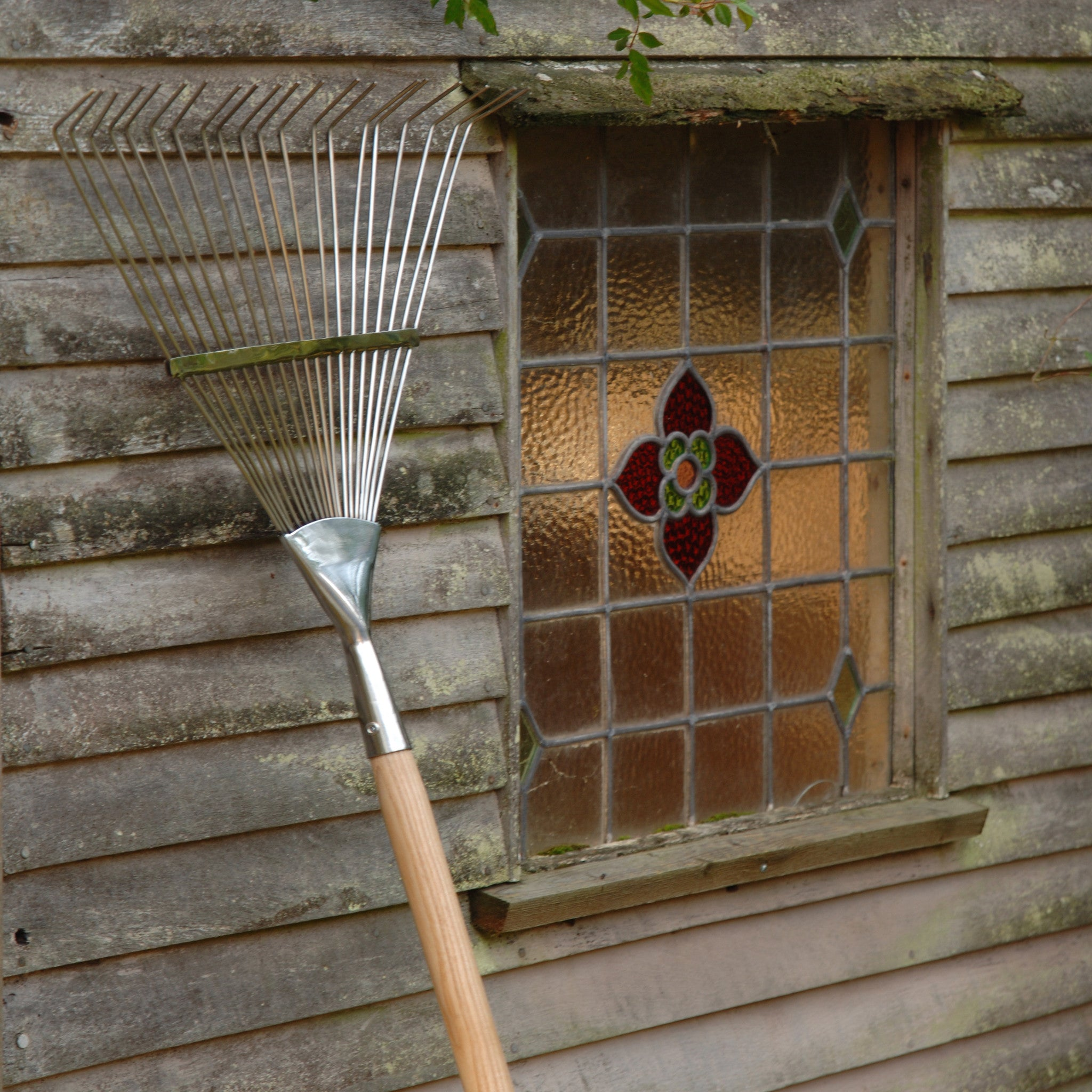 Flexi Tined Lawn Rake - Stainless Steel - The Potting Shed Garden Tools