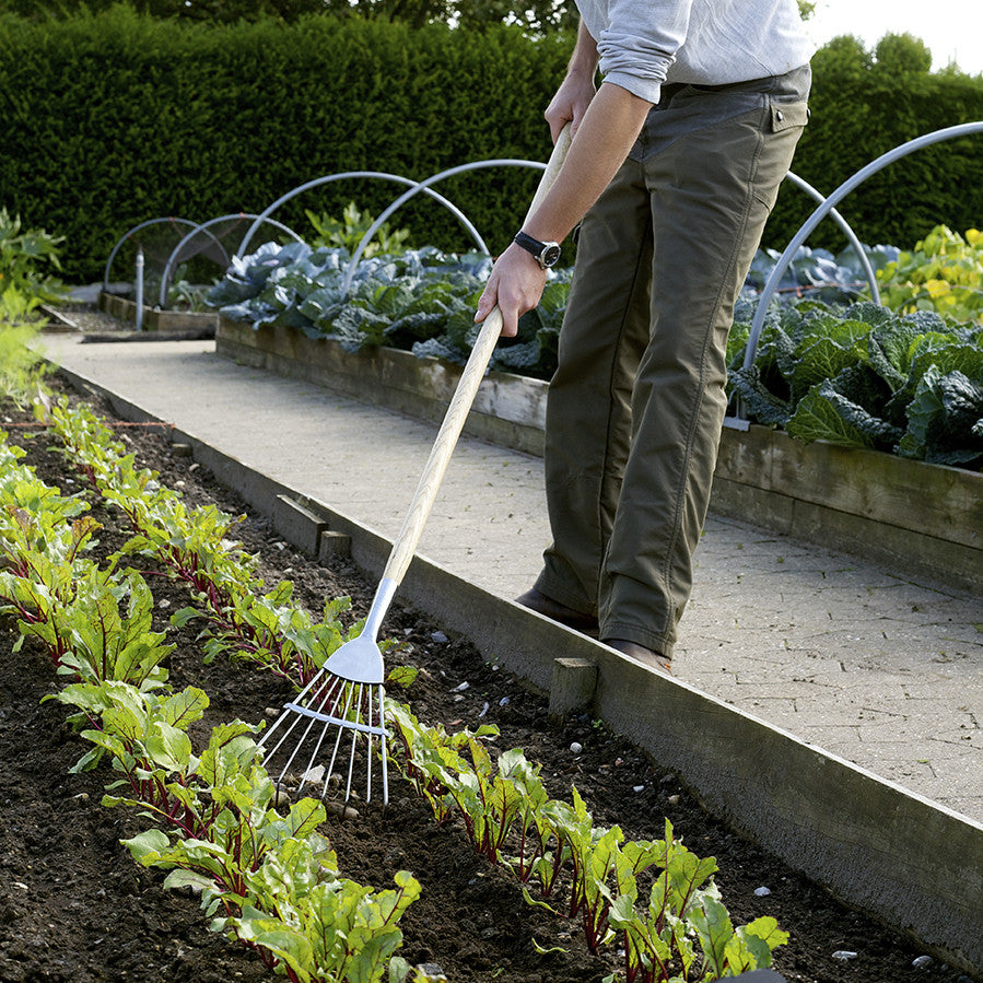 Long Handled Culti-Rake - Stainless Steel - The Potting Shed Garden Tools