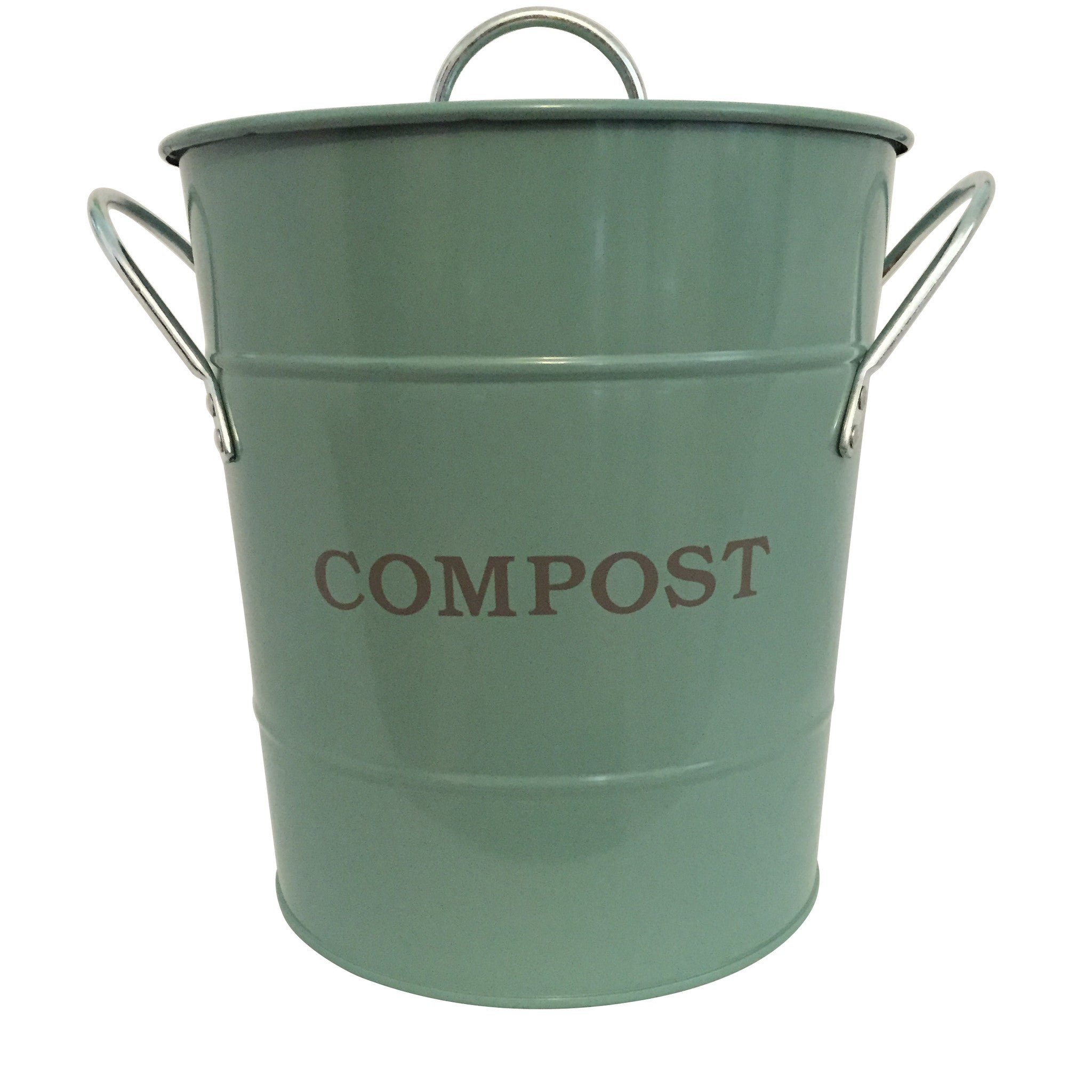 Compost Bucket - Sage Green - The Potting Shed Garden Tools