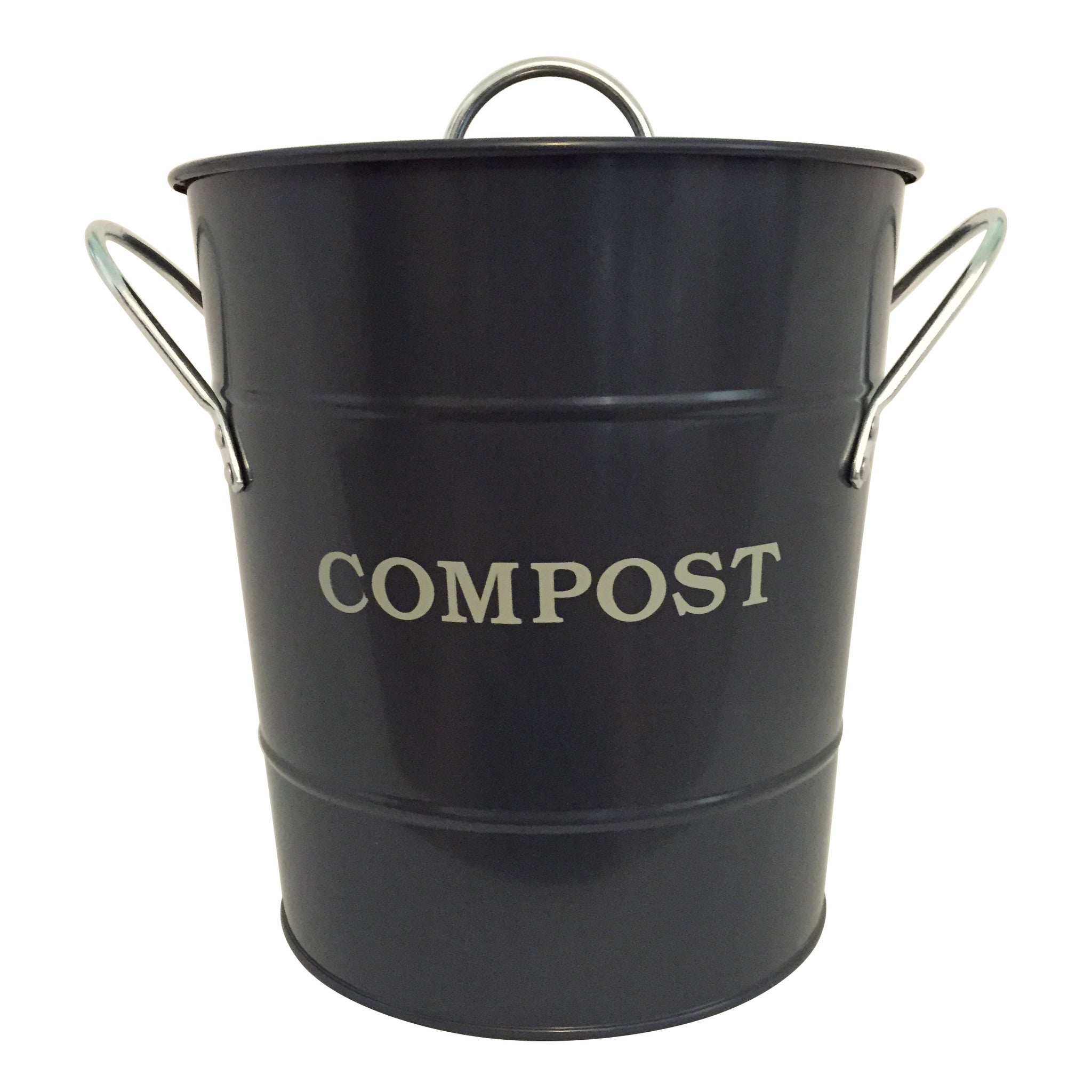 Compost Bucket - Charcoal - The Potting Shed Garden Tools