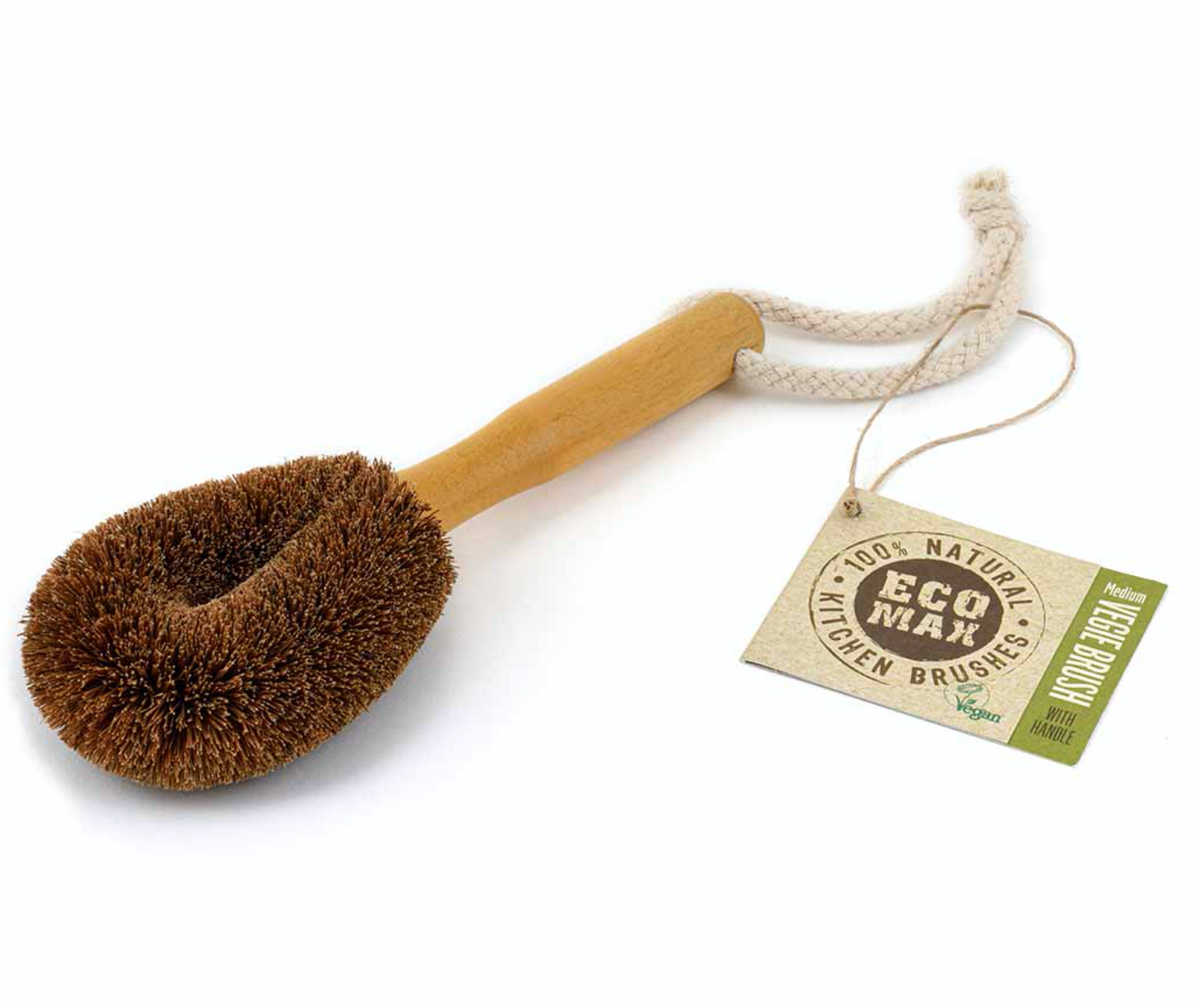 Eco Max Vege Brush with Handle - Medium
