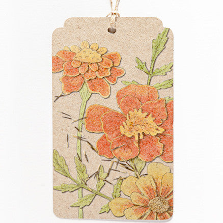 Marigold Gift Tag - The Potting Shed Garden Tools