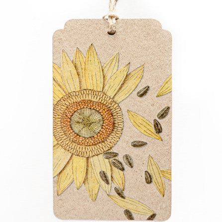 Sunflower Gift Tag - The Potting Shed Garden Tools