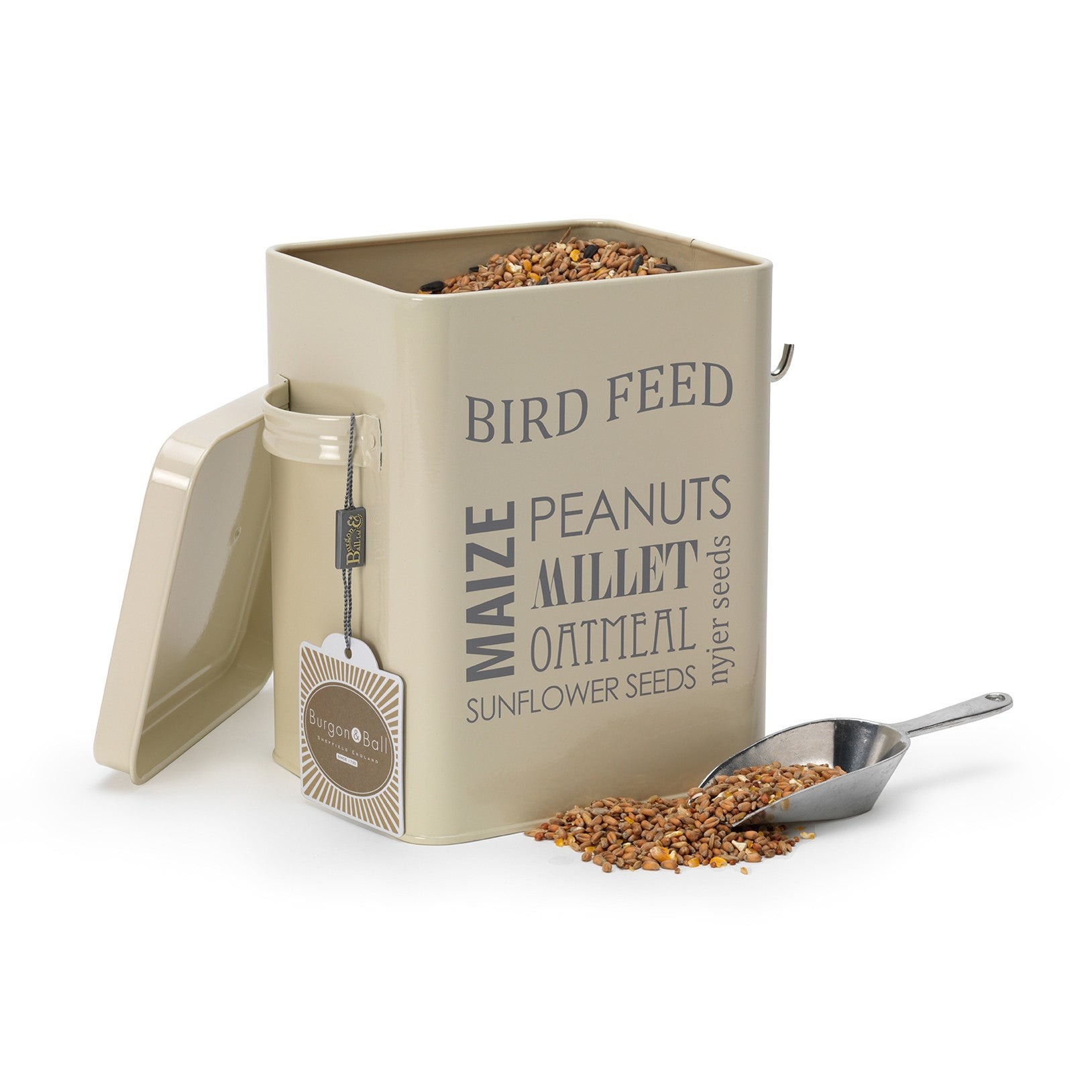 Bird Feed Tin - Jersey Cream - The Potting Shed Garden Tools