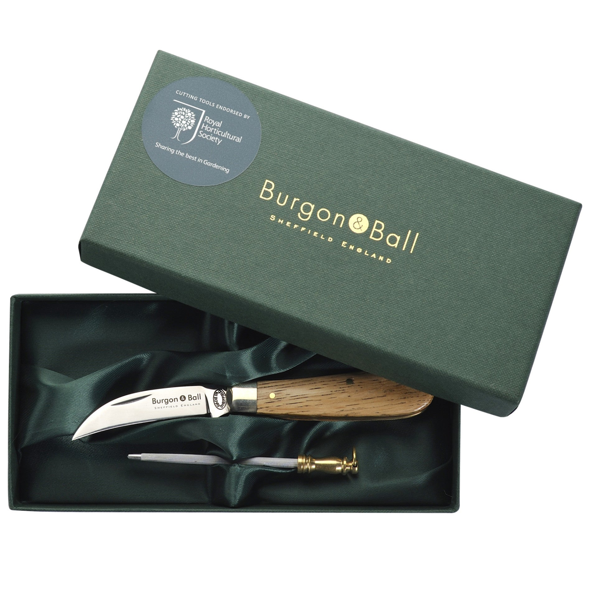 Ladies Pruning Knife & Steel Gift Set - The Potting Shed Garden Tools
