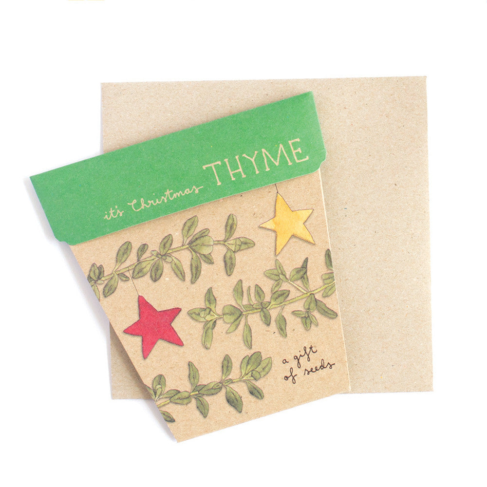 Christmas Thyme Gift of Seeds Card - The Potting Shed Garden Tools