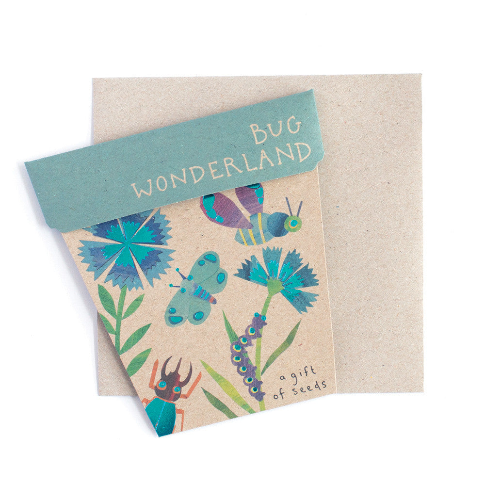 Bug Wonderland Gift of Seeds Card - The Potting Shed Garden Tools
