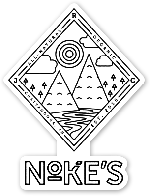 Noke's 4 X 3 Die Cut Vinyl Stickers