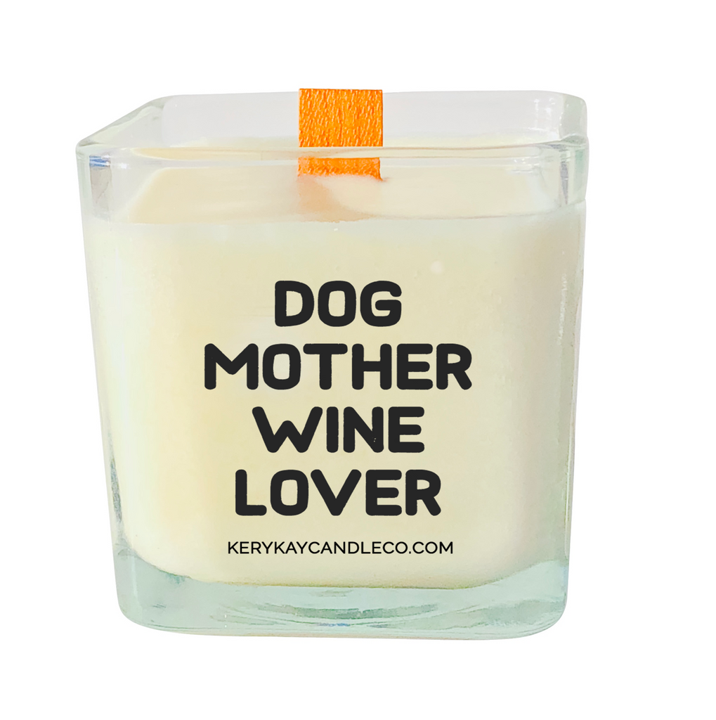 Dog Mother Wine Lover Candle