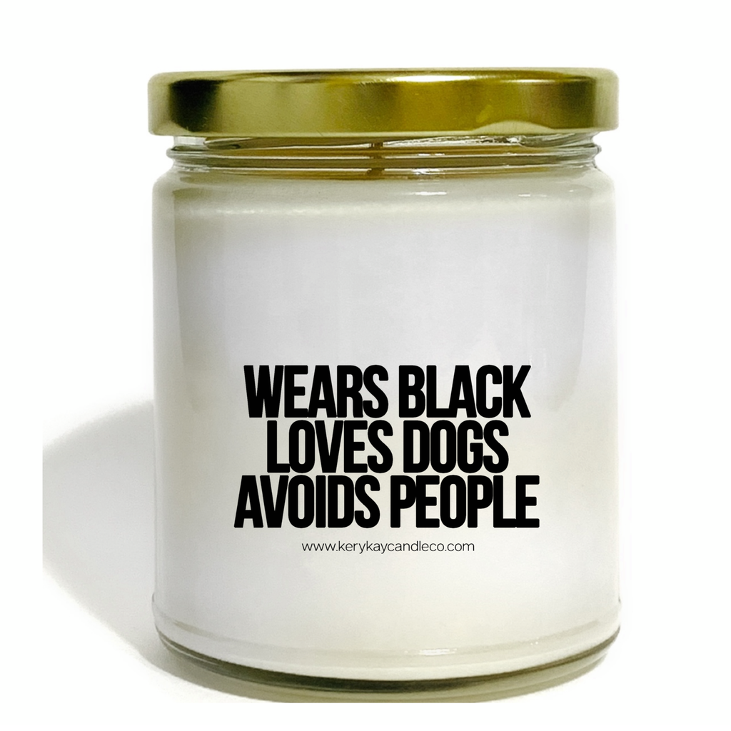 Wears Black Loves Dogs Avoids People