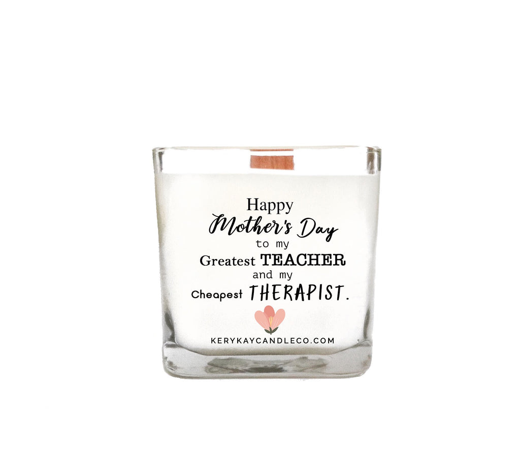 Happy Mother's Day Therapist Candle