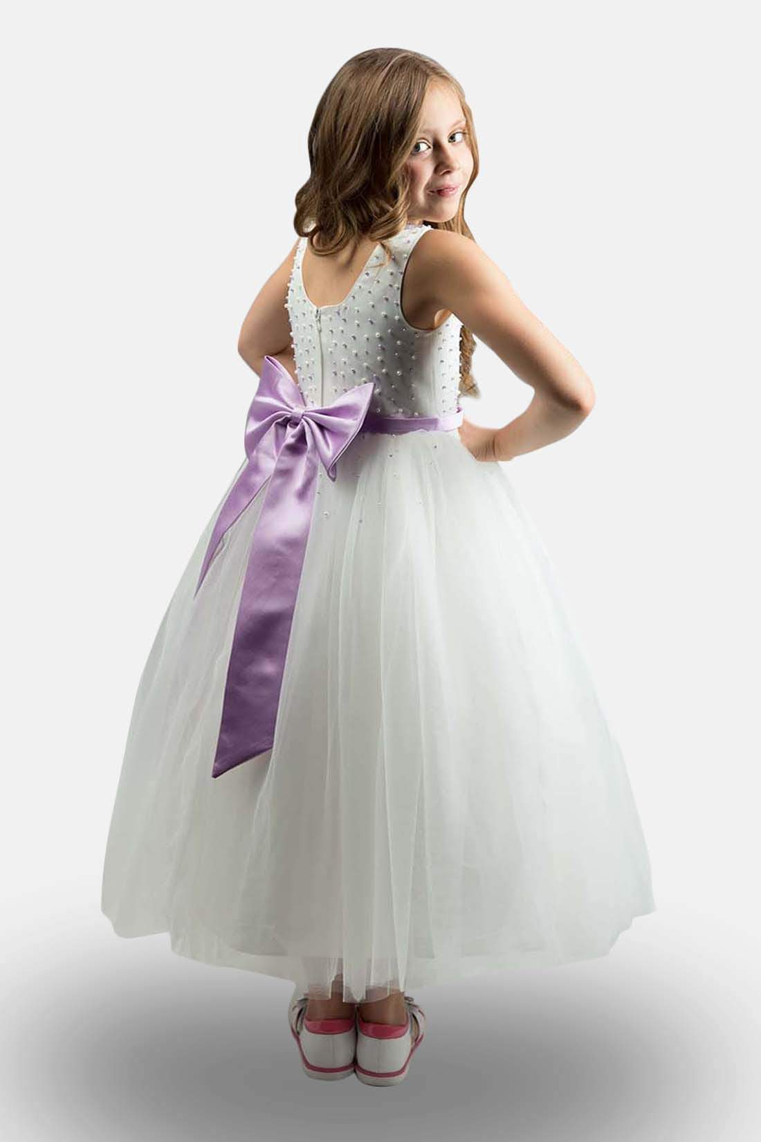 952f4f8a4fa White And Plum Flower Girl Dresses - Gomes Weine AG
