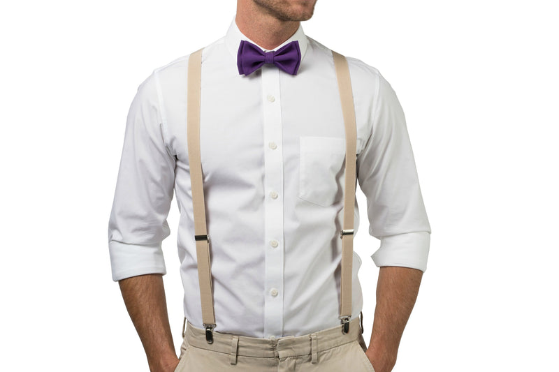 Dark Purple Bow Tie