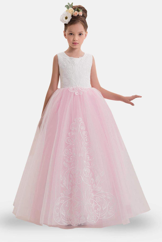uk cheap sale outlet united kingdom Candy Pink Flower Girl Dress