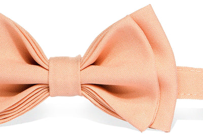 Light Gray Suspenders & Peach Bow Tie - ARMONIIA