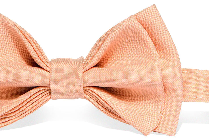 Light Gray Suspenders & Peach Bow Tie