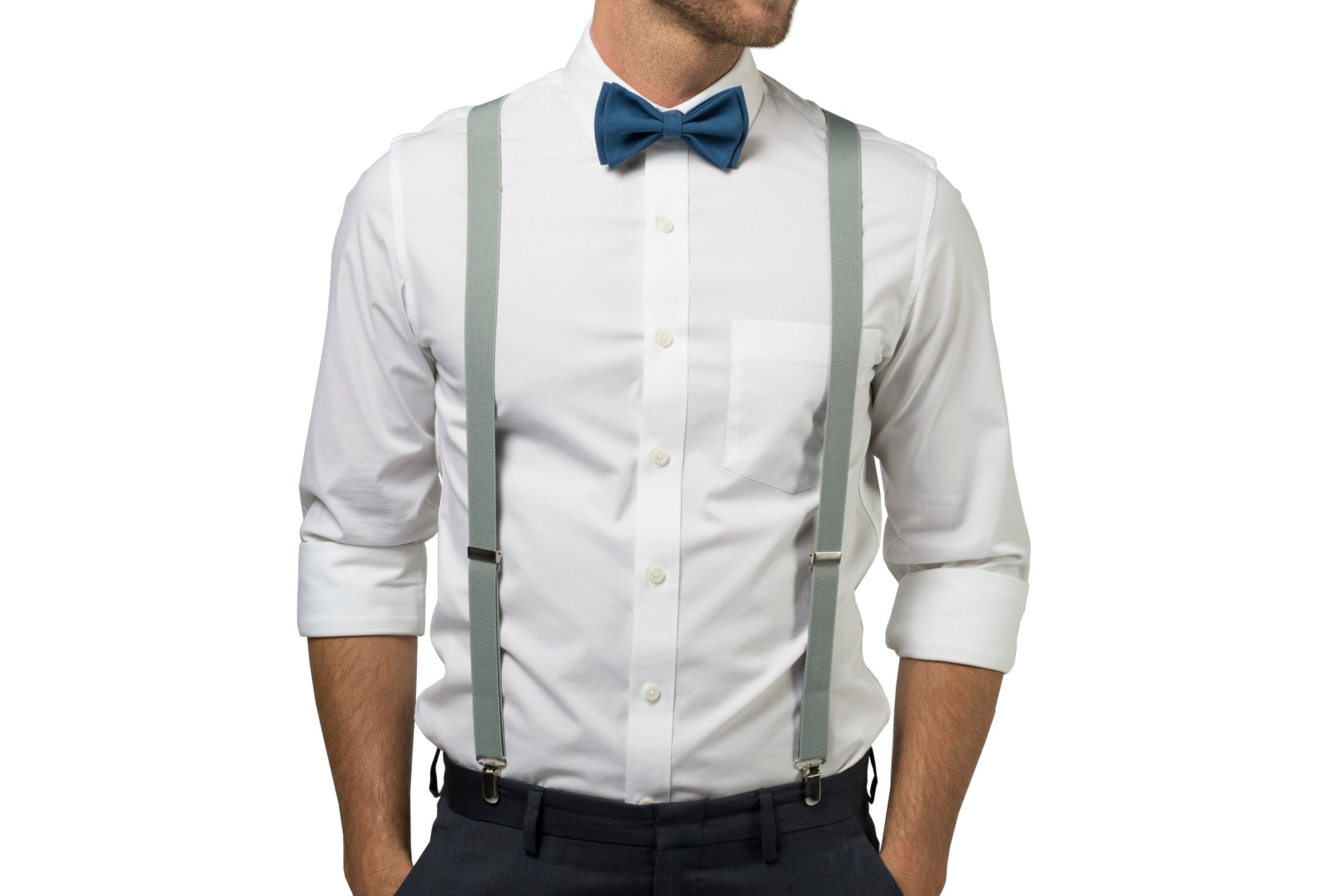 Peacock Blue Bow Tie