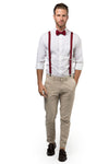 Burgundy Suspenders & Burgundy Bow Tie