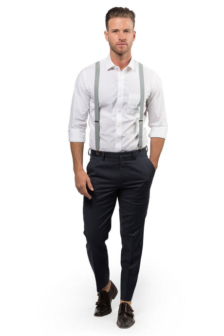 Light Gray Suspenders