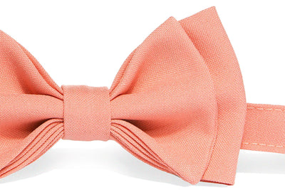 Charcoal Grey Suspenders & Peach Coral Bow Tie