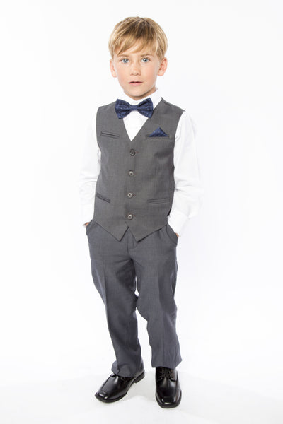 Navy Polka Dot Bow Tie for Kids