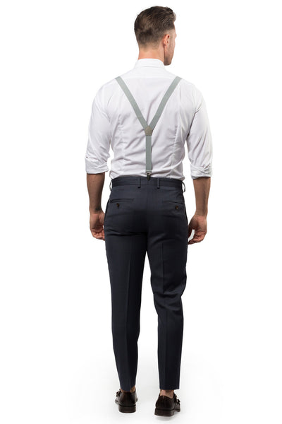 Light Grey Suspenders / Back