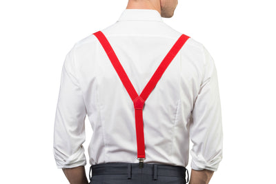 Red Suspenders & Red Bow Tie - Back
