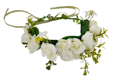 Off White Roses Flower Crown