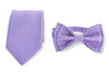 Purple Necktie & Purple Bow Tie