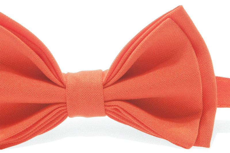 Charcoal Suspenders & Orange Bow Tie