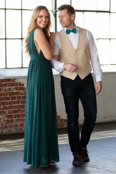Teal Bow Tie & Teal Dress