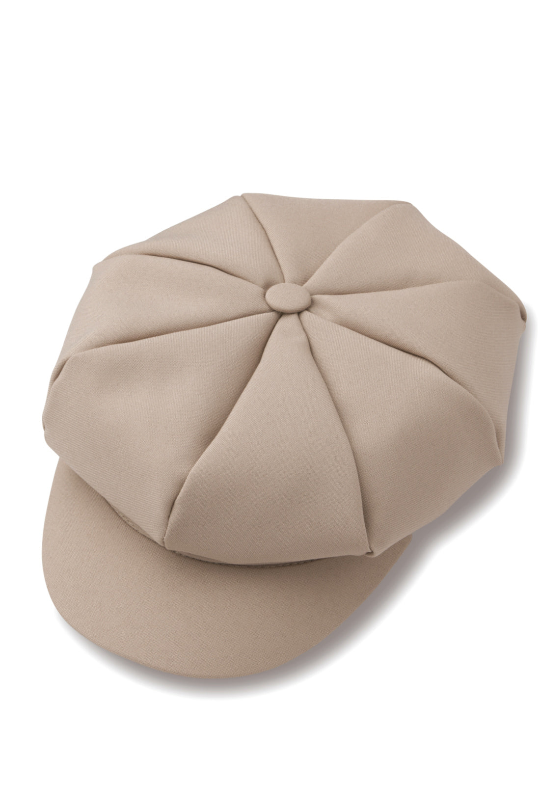 Beige Newsboy Hat