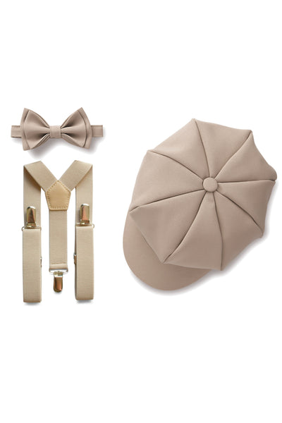 Beige Ring Bearer Set