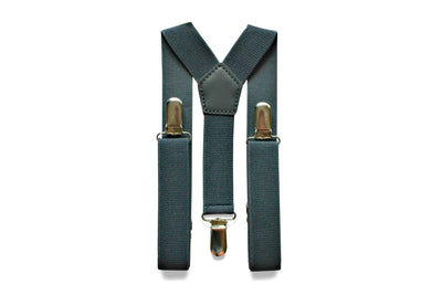 Charcoal Grey Suspenders