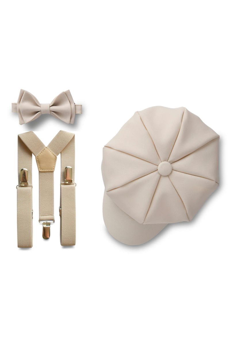 Cream Beige Ring Bearer Set