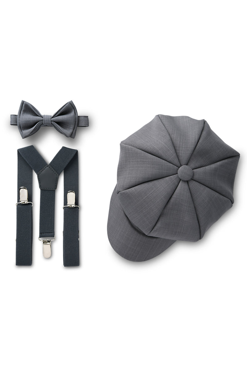 Dark Grey Ring Bearer Set