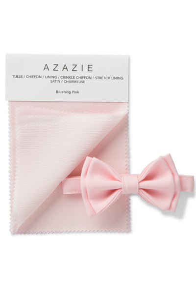 Light Pink Bow Tie & Azazie Blushing Pink