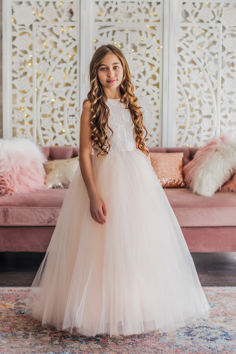 All Blush Flower Girl Dress