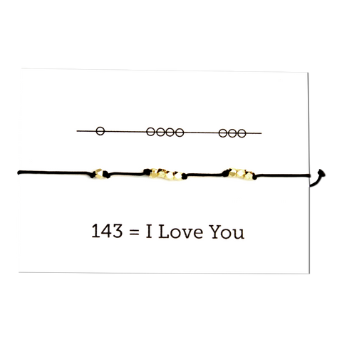 I Love You - Secret Code Friendship Necklace 143 - Pink