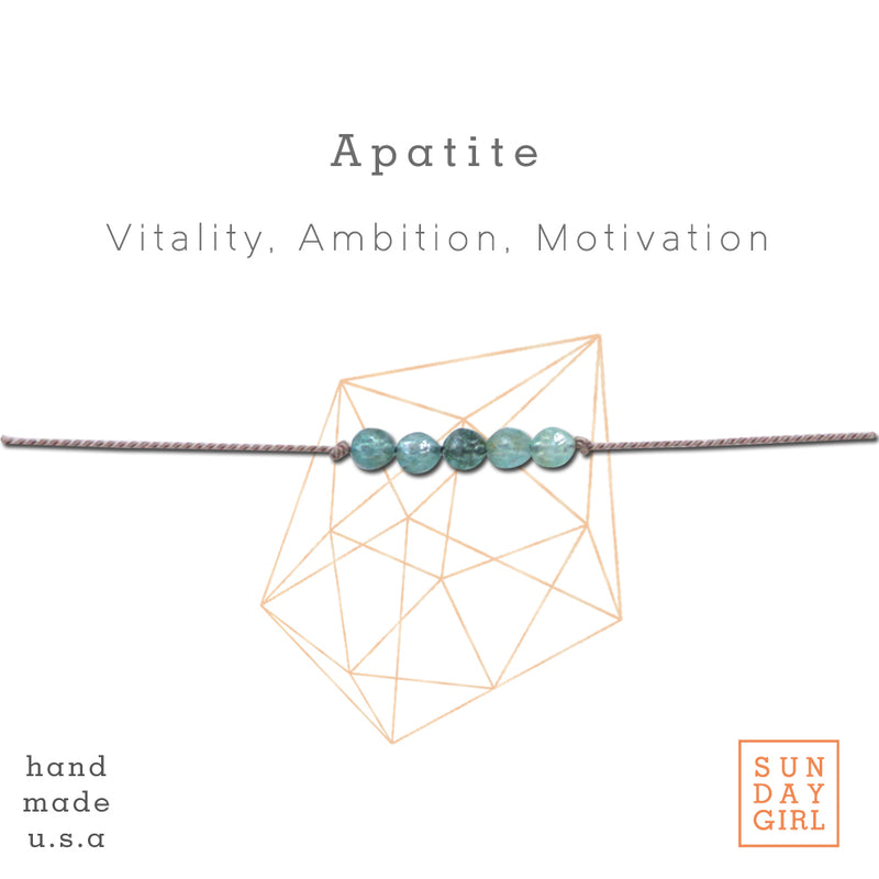 Crystal Intention Bracelet - Apatite