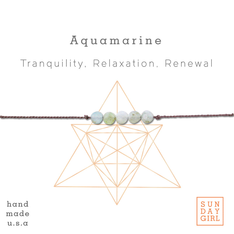 Crystal Intention Bracelet - Aquamarine