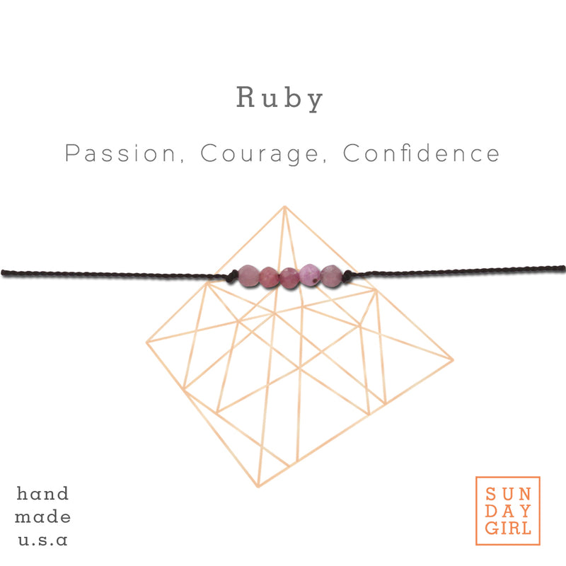 Crystal Intention Bracelet - Ruby