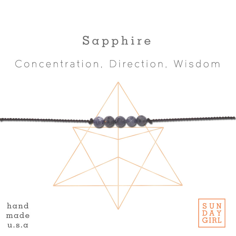 Crystal Intention Bracelet - Sapphire