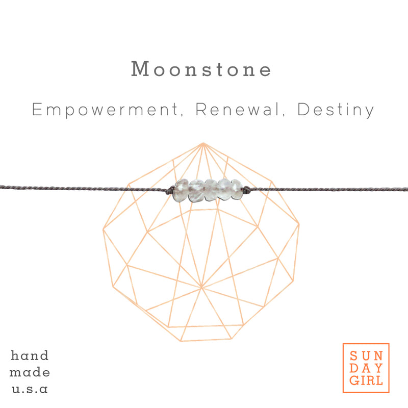 Crystal Intention Bracelet - Moonstone